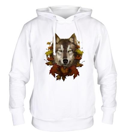Толстовка с капюшоном Осенний Волк