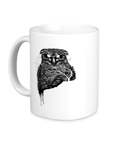 Керамическая кружка Ночная сова