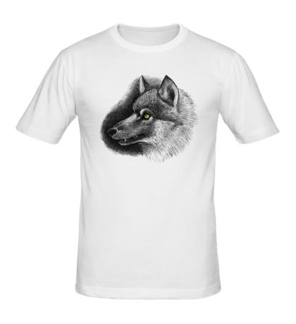 Мужская футболка Одинокий волк