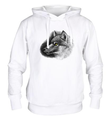 Толстовка с капюшоном Одинокий волк
