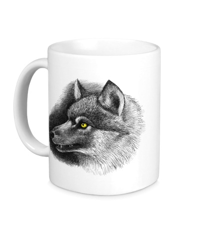 Керамическая кружка Одинокий волк