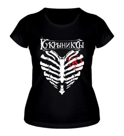 Женская футболка Кукрыниксы с крыльями