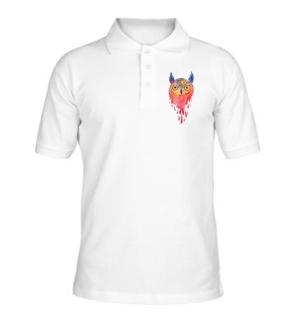 Рубашка поло Акварельная сова