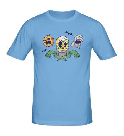 Мужская футболка Монстры хэллоуина