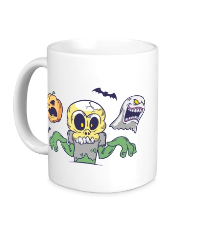 Керамическая кружка Монстры хэллоуина