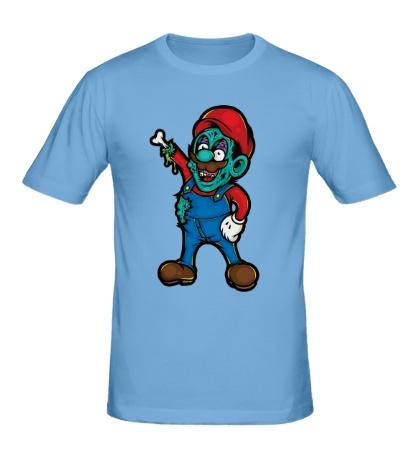 Мужская футболка Марио-зомби