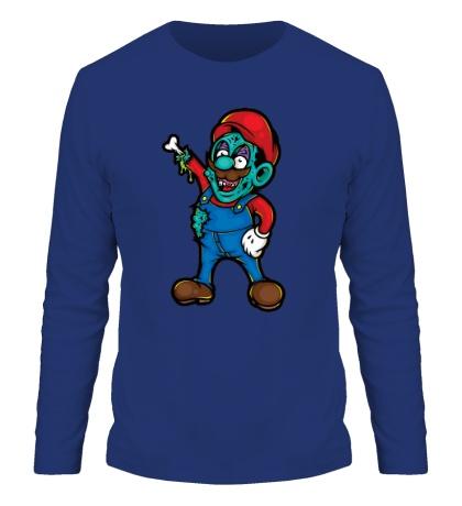 Мужской лонгслив Марио-зомби