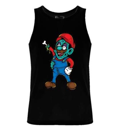 Мужская майка Марио-зомби