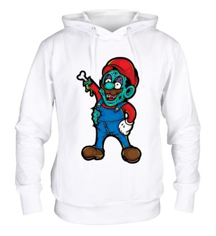Толстовка с капюшоном Марио-зомби
