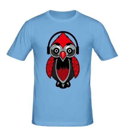 Мужская футболка Филин-меломан
