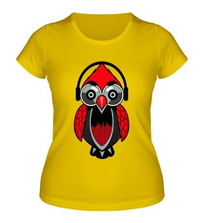 Женская футболка Филин-меломан
