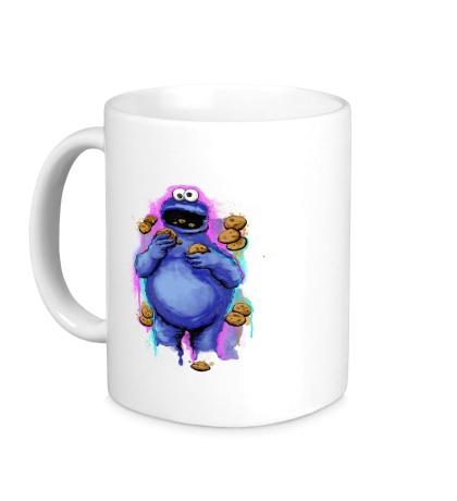 Керамическая кружка Hungry Cookie Monster