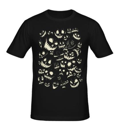 Мужская футболка Комната призраков, свет