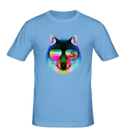 Мужская футболка Летний Волк