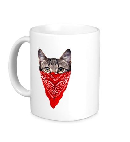 Керамическая кружка Гангстер кот