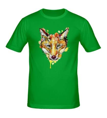 Мужская футболка Абстрактный лис