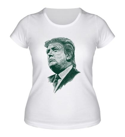 Женская футболка Donald John Trump