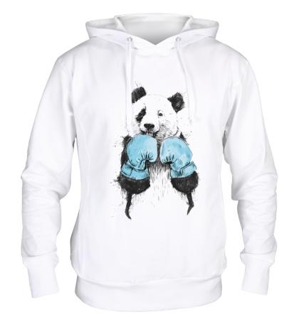 Толстовка с капюшоном Панда-боксер