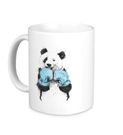 Керамическая кружка Панда-боксер