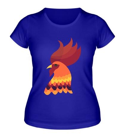 Женская футболка Золотой петух