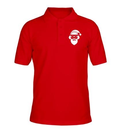 Рубашка поло Санта в наушниках