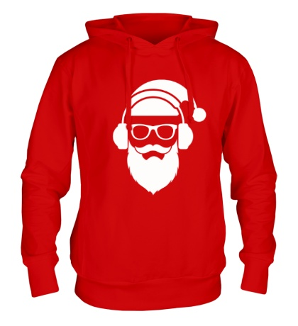 Толстовка с капюшоном Санта в наушниках