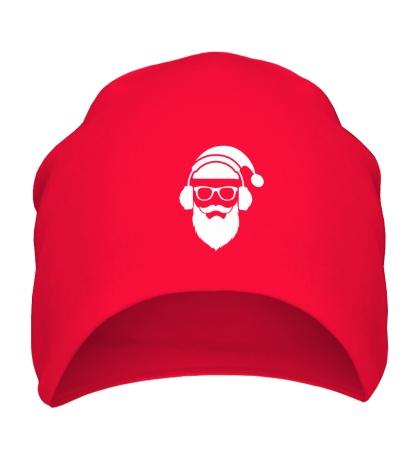 Шапка Санта в наушниках