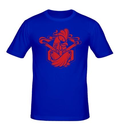 Мужская футболка Петух с пистолетами