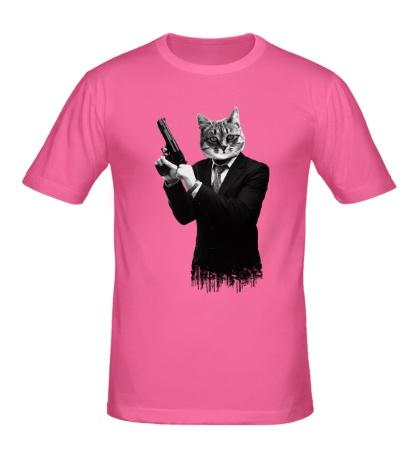 Мужская футболка Кот киллер
