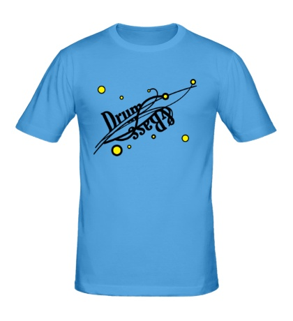 Мужская футболка Drum and Bass точки