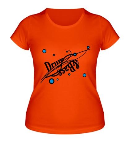 Женская футболка Drum and Bass точки