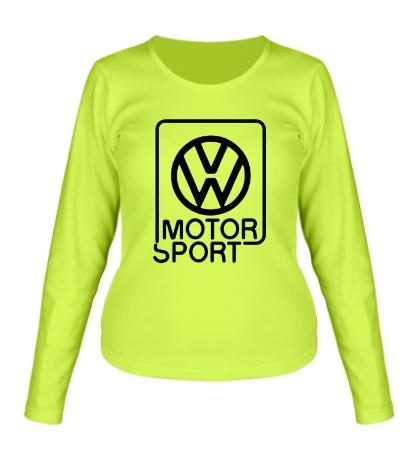 Женский лонгслив VW Motorsport