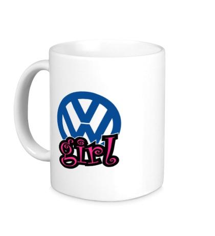 Керамическая кружка VW Girl