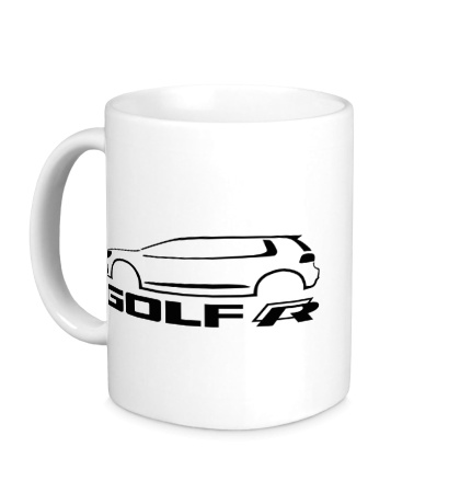 Керамическая кружка VW Golf R silhouette