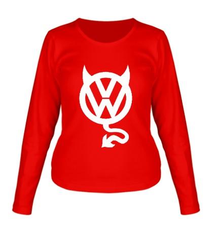 Женский лонгслив VW Devil logo