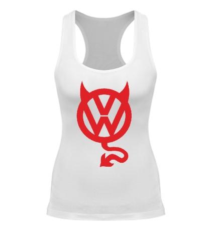 Женская борцовка VW Devil logo