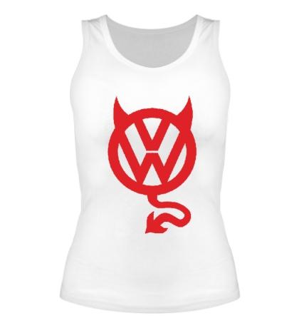Женская майка VW Devil logo