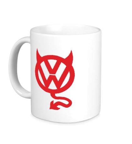 Керамическая кружка VW Devil logo