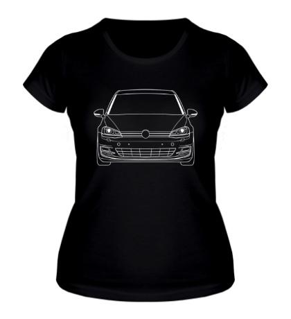 Женская футболка VW MK7 TDI