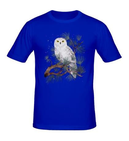 Мужская футболка Снежная сова