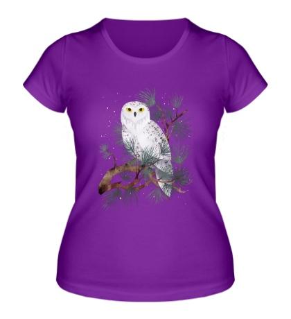 Женская футболка Снежная сова