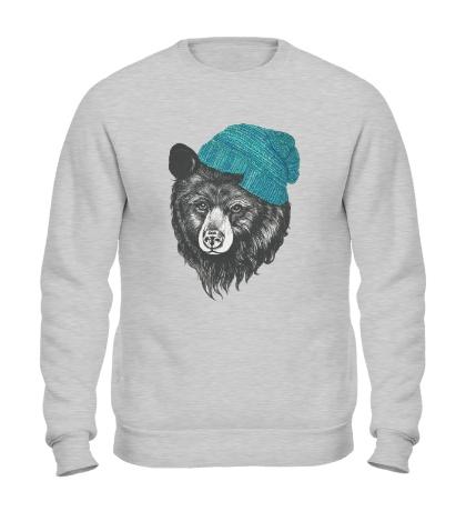 Свитшот Медведь в вязанной шапке