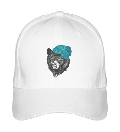 Бейсболка Медведь в вязанной шапке