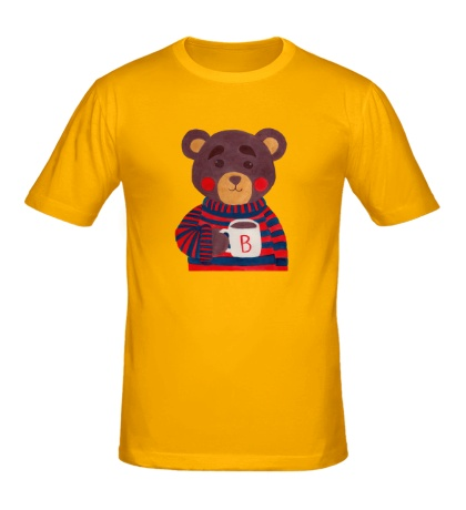 Мужская футболка Медведь с какао