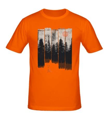 Мужская футболка Лиса в лесу