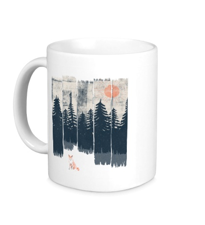 Керамическая кружка Лиса в лесу