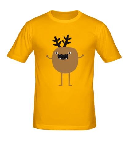 Мужская футболка Рождественский олень