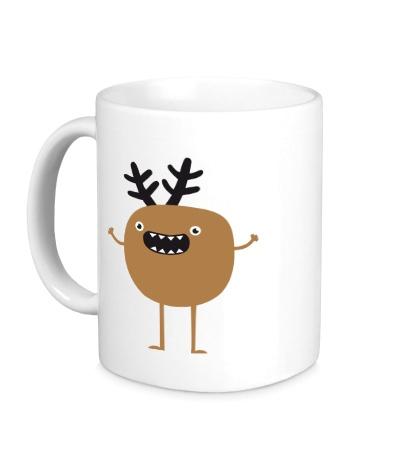 Керамическая кружка Рождественский олень