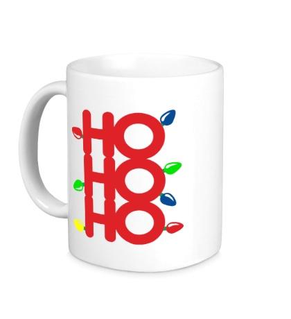 Керамическая кружка Хо хо хо, с рождеством