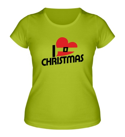 Женская футболка I love Christmas